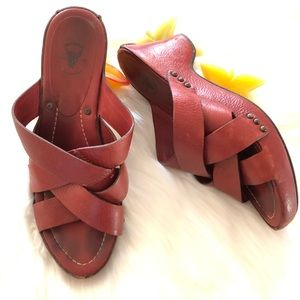 Frye leather sandals size 9